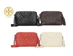 3d9bf2e8b27d TORY BURCH FLEMING DISTRESSED LEATHER CAMERA BAG with Free Gift Free  Shipping