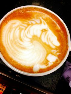 Zebra Horse latte art