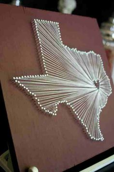Pin/string art of your state/province/country/whatever