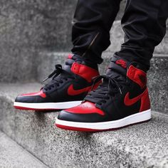 "Last day to preorder the Nike Air Jordan 1 Retro High OG ""Bred/Banned"". Air Jordan Basketball Shoes, Jordan Shoes For Men, Air Jordan Sneakers, Nike Air Jordans, Girl Jordans, Retro Jordans, Basketball Sneakers, Basketball Hoop, Shoes"