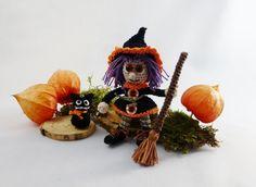 Hexe Lilly & der schwarze Kater -  häkeln, Halloween