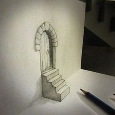 Alessandro Diddi is an artist from Italy who designs creative Drawings that creates illusions. The drawings on paper are so creative and looks very real. Drawing is an art of drawing in 2 dim… 3d Illusion Drawing, 3d Art Drawing, 3d Drawings, Illusion Art, Amazing Drawings, Painting & Drawing, Amazing Art, Simple Drawings, Ship Drawing