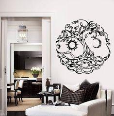 12 Diameter Kess InHouse Art Love Passion Celtic Flower Green Pink Wall Clock