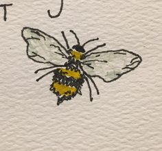 Tiny bee Japon Illustration, Nature Illustration, Best Canvas, Canvas Art, Bee Sketch, Watercolor Paintings, Original Paintings, Bee Drawing, Bee Tattoo