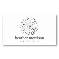 Yoga Instructor, Dandelion business card template