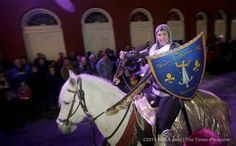 The Joan of Arc parade makes its way through the French Quarter in New Orleans on Wednesday, January 6, 2016. The Joan of Arc parade is an annual parade celebrating St. Joan of Arc's birthday. (Photo by Brett Duke, Nola.com   The Times-Picayune)
