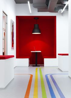 Emil Dervish design functional and stylish interior for modern Language School Underhub, in Kiev downtown #school