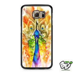 Colorful Watercolor Peacock Samsung Galaxy S7 Case
