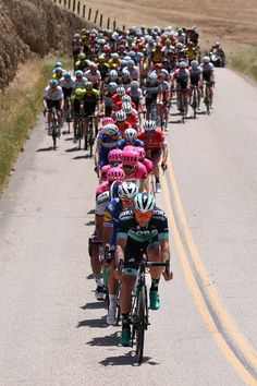 Michal Kolar of Slovakia and Team Bora Hansgrohe leads the peloton during stage three of the 13th Amgen Tour of California 2018 a 197 km stage from...