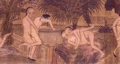 Section 2 – Beijing Hand Scroll – young men engaged in erotic play. Hand scroll, opaque watercolour on paper. Beijing, Qing dynasty, late 19th century.