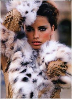 Adriana Lima fur-ed out