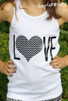 Back to school Tween Love T-Shirt made with Cricut Explore -- Dimple Prints. #DesignSpaceStar Round 2