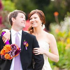 Purple & Orange California Wedding, Wedding Real Weddings Photos by Figlewicz Photography