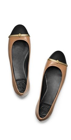 Two tone flats #toryburch