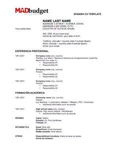 resume examples in spanish - It Professional Resume