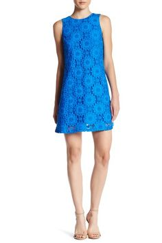 Arlington Sleeveless Castuc Lace Shift Dress by CeCe by Cynthia Steffe on @nordstrom_rack