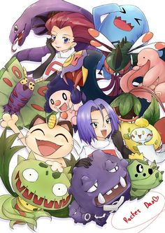 Team Rocket and their Pokemon from generations 1-4