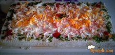 Recept za Slane kocke od oblandi. Za spremanje ovog jela neophodno je pripremiti oblande, pavlaku, majonez, jaja, šunkaricu, papriku, peršunk, kačkavalj,