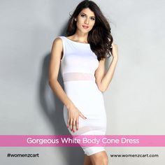 4fe2742ce7a Stunning White Sheer Sleeveless Bodycon For Your Perfect Hourglass Body  only at womenzcart.  westerndress
