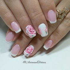 Amazing Tips For The Best Summer Nails – NaiLovely French Pedicure, French Nails, Creative Nail Designs, Nail Art Designs, Nails Design, Hair And Nails, My Nails, Flower Nails, Beauty Nails