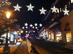 Courchevel is beautiful at night too!
