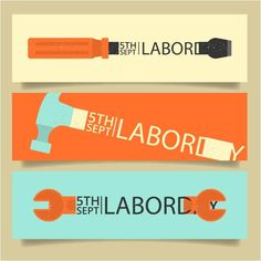 Labor Day Armor Hammer Tool Banners    http://www.cgvector.com/category/labor-day/
