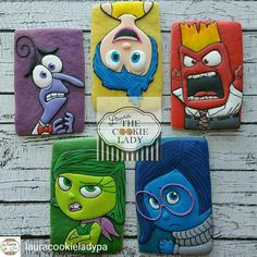 Colored dough inside out characters