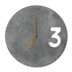 Concrete Handmade Wall Clocks by Jakub Velínský on CROWDYHOUSE - ✓Unique Design Products ✓30 Day Returns ✓Buyer Protection