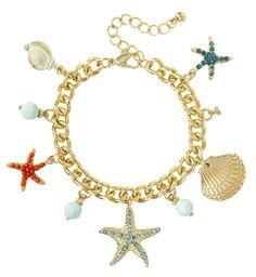 Bijou Brigitte starfish charm bracelet
