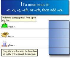 Plural Noun Rules SmartBoard Lesson $