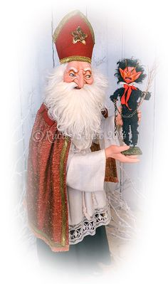 Original Saint Nicholas with Krampus Doll by Scott Smith of Rucus Studio © 2014