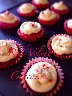 レッドベルベットカップケーキ。 レシピブログ