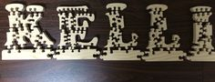 Wood puzzle letters - Home decoration