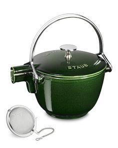 Staub Round Tea Kettle #williamssonoma... christmas present hint to hubby...in matte black, please?   :)