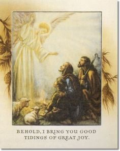 Cicely Mary Barker - Religious Works - Card Design - I Bring You Good Tidings Painting