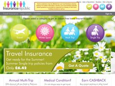 #Insurance Republic - 20% off any Gold or Platinum Annual Multi-trip Booked Online Direct.