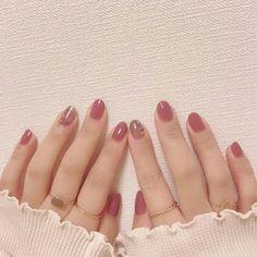Stylish Nails, Trendy Nails, Cute Nails, Korean Nail Art, Korean Nails, Pink Nails, Gel Nails, Nail Polish, Acrylic Nails