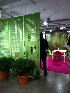 Knoll - felt divider screen, punch of color for workshop area! AMy Kallenbach?