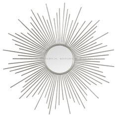 712 Lustro SUNBURST Silver - MINT GREY New York Style Interiors