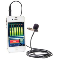 Azden i-Coustics Studio Pro Lapel Microphone for Smartphones and Tablets, Multicolor Smartphone, Digital Cinema, Cinema Camera, Radio Alarm Clock, Music System, Electronic Gifts, Tablets, Cool Tech, Electronics Gadgets