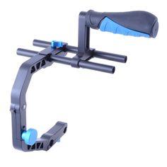 YELANGU Hanheld Action Stabilizer Grip C Shaped Bracket Holder for Canon Nikon Sony Gopro Camera Camcorder DV DSLR Stabilizer