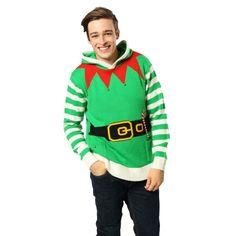 Kersttrui elfen outfit voor volwassenen. Groene kersttrui met elfen outfit…