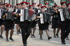 Marching accordion band.  Now THAT's hardcore.  fo show.
