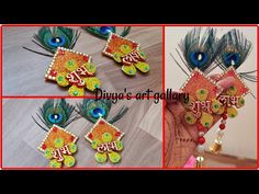 Door Hanging Decorations, Diwali Decorations, Festival Decorations, Handmade Rakhi Designs, Paper Art, Paper Crafts, Craft Projects, Projects To Try, Diwali Diy