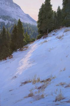 Winter's Glory by Kathleen Dunphy Oil ~ 30 x 20 - landscape painting