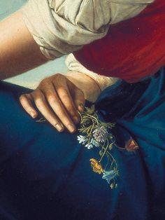 """sollertias: """" Portrait of Heinrike Dannecker by Gottlieb Schick, 1802 (detail) """""""