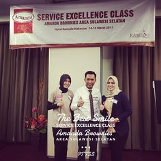 Congratulations !  The Best Smile Service Excellence Class Amanda Brownies  Area Sulawesi Selatan  PT TSS