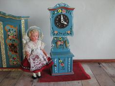 Vintage DORA KUHN Doll Furniture Gradfather Clock in by TheToyBox