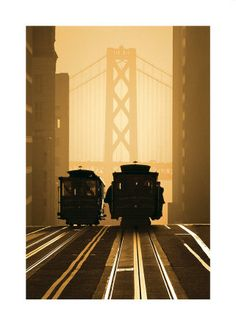 Cable Cars, San Francisco Reproduction d'art