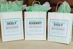 gift bags for bridesmiads gifts